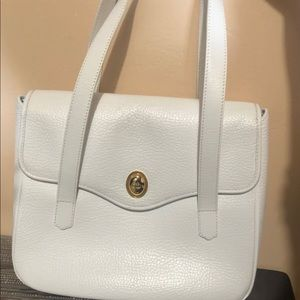 White Christian Dior Handbag Authentic